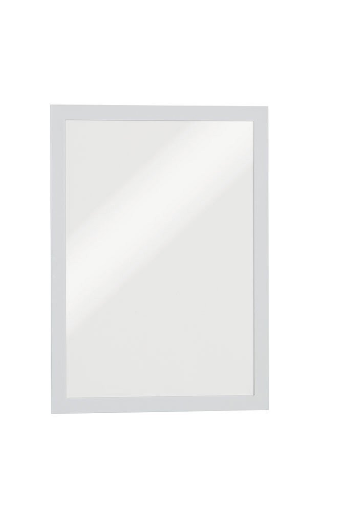 DURABLE DURAFRAME, Self-Adhesive Magnetic Frame, Letter, Silver, 2-Pack (476823)