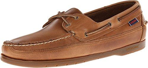 Sebago Men's Schooner Cognac Leather Boat Shoe 11 W (Slip Sebago Mens)