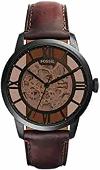 Amazon.com: Fossil Mens ME3098 Analog Display Automatic Self Wind Brown Watch: Fossil: Watches