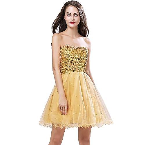 Short Gold Prom Dress: Amazon.com
