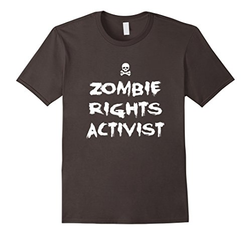 Mens Zombie Rights Activist Funny Zombie Tee, Halloween T-Shirt Small (Men's Rights Activist Halloween Costume)