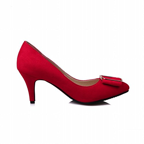 Carolbar Womens Pointed Toe Scarpin Fashion Office Lady High Heels Pumps Shoes Red NdJkN