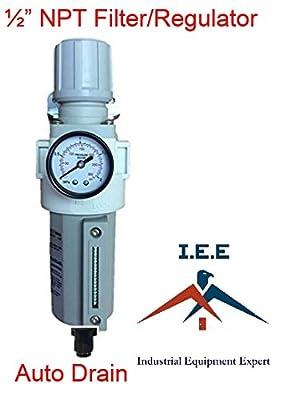 """1/2"""" NPT Air Compressor Filter Pressure Relief Regulator Combo Auto Drain Gauge"""