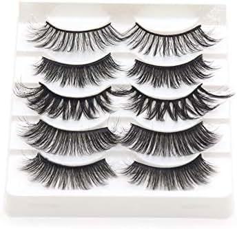 VGTE 3D Eyelashes Handmade False Eyelashes Set Professional Fake Eyelashes 5 Pairs Reusable Eyes Lashes (3D Mixed)