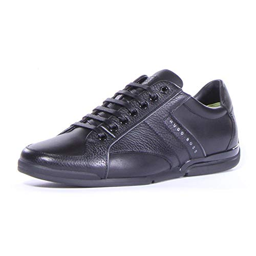 Hugo Boss BOSS Men's Saturn Leather Sneaker by BOSS Green Black 11 D US D (M)