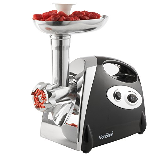 VonShef Electric Meat Grinder, Sausage & Kebbe Maker – Powerful 1200W...