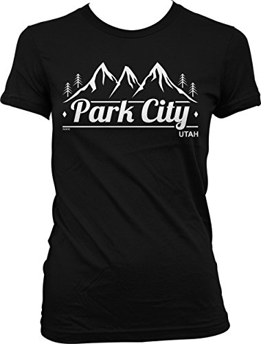 Hoodteez Park City, Utah Juniors T-Shirt, L Black