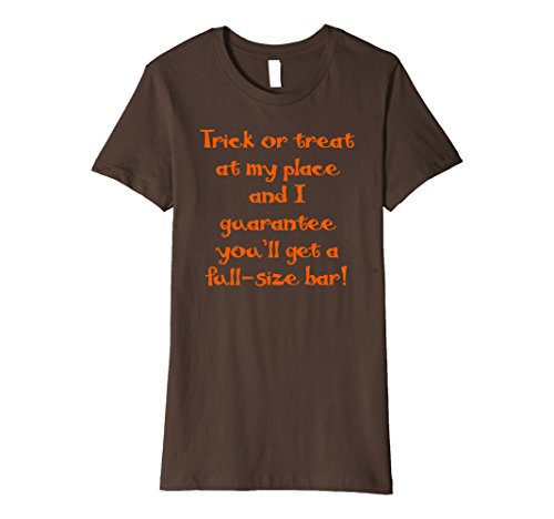Halloween Pick Up Lines (Womens Halloween Pickup Line Funny Shirt Trick or Treat Small Brown)