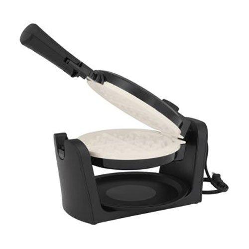 (Oster Titanium-Infused DuraCeramic Flip Waffle Maker, Black (CKSTWFBF10W-TECO))