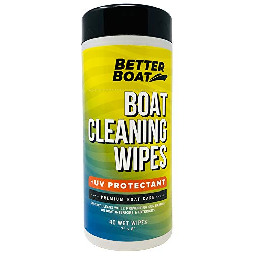 (Better Boat Cleaner Wipes with UV Marine Boat Vinyl and Boat Seat Cleaner and Protectant)