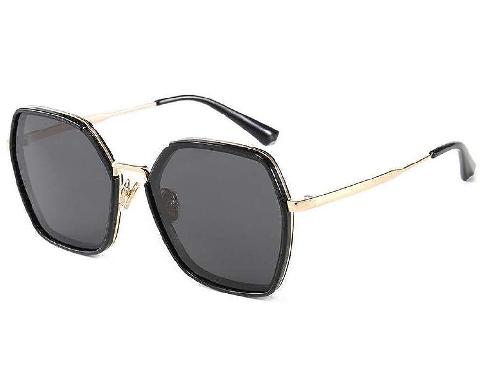 Polarized Black Sunglasses Womens Classic Mens Retro Fashion Brand Sunglasses Horn Edge Classic (36)