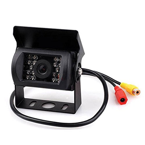 Kalakass 170 Degree Viewing Angle Rear View Reverse 12-24V Waterproof 18 LED IR Night Vision Vehicle Backup Camera for Truck/Bus/Van/Caravan/Motorhome/Trailer/excavator/freight
