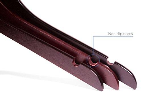 Topline Classic Wood Shirt Hangers - Cherry Finish (10-Pack) by Topline (Image #3)