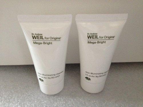 Lot of 2 Origins Dr. Andrew Weil for Origins Mega-bright Skin Illluminating Cleanser 1 Oz X 2 Total 2 Oz