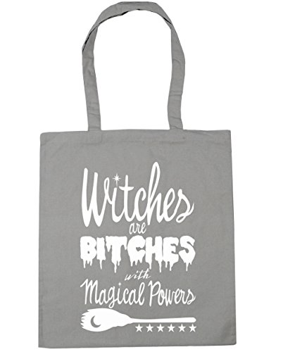 Beach Bag Tote HippoWarehouse 10 Witches 42cm x38cm Powers Light Bitches Shopping With Are Magical Grey Gym litres wzfqvSw