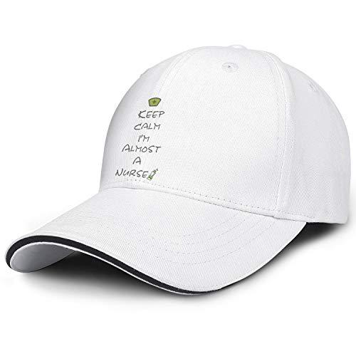 Nursing Student Keep Calm I'm Almost A Nurse Adjustable Baseball Cap Strapback Ball Dad hat