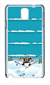 Samsung Galaxy Note 3 N9000 Case,Snow Zombies Ski PC Hard Plastic Case for Samsung Galaxy Note 3 N9000 Whtie