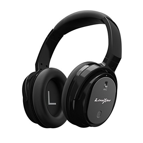 Litexim Qw 07 Active Noise Cancelling Bluetooth Headphones Over Ear  Csr With Apt X  Hifi Wireless   Wired Headset With Mic  Lightweight And Comfortable Protein Earpads For Travel  Work  Game