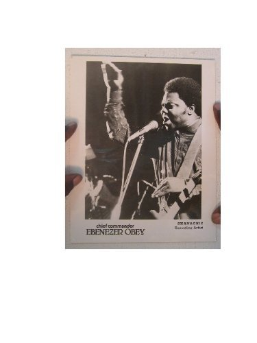 Ebenezer Obey Press Kit And Photo Juju Jubilee Chief Commander - Obey Rock