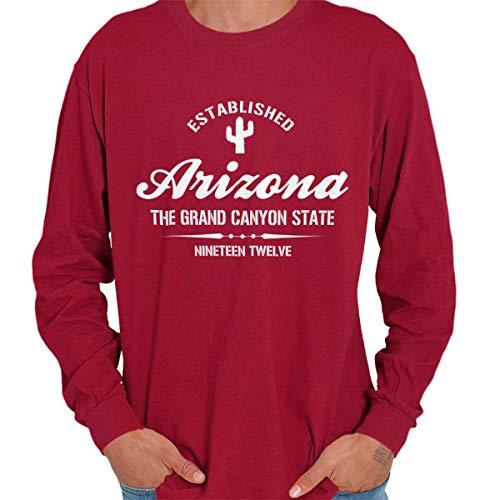 (Arizona State - Icon Printed Long Sleeve Tee Shirt - Cardinal Red)