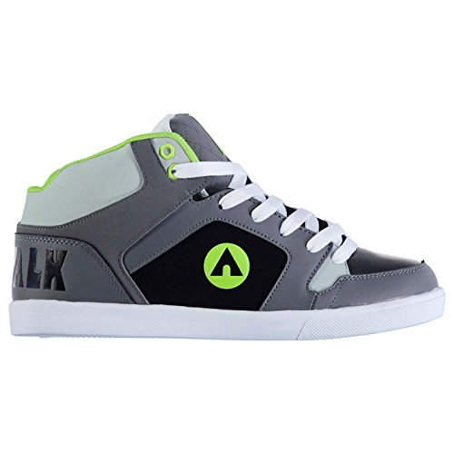 Airwalk Roxbury Mid Chaussures de skate pour homme Anthracite/vert citron Baskets Sneakers Chaussures