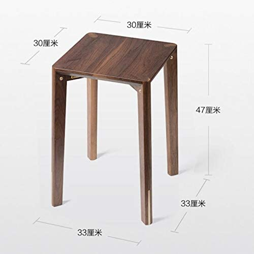 SHOUTAOS Tabouret en Bois Massif, Tabouret Adulte Simple, Tabouret Carré Chinois, Tabouret De Table Basse CLKMRY