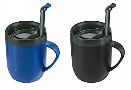 9c58b163b5f 2 X ZYLISS SMART CAFE ONE CUP COFFEE CAFETIERE HOT MUG BLUE & BLACK ...