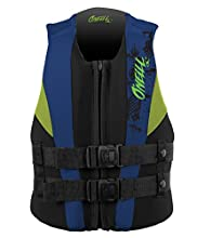 O'Neill Youth Reactor USCG Life Vest, Black/Pacific/Dayglo, 50-90 lbs