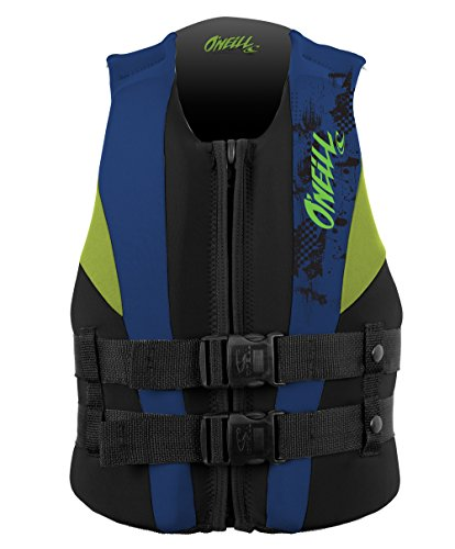 O'Neill Youth Reactor USCG Life Vest, Black/Pacific/Dayglo, 50-90 lbs ()