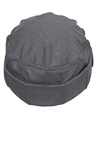 Just In Time Fold-Up Cancer hat for Chemo Patients. 100% Cotton Interlock Knit Fabric. (Charcoal Gray)