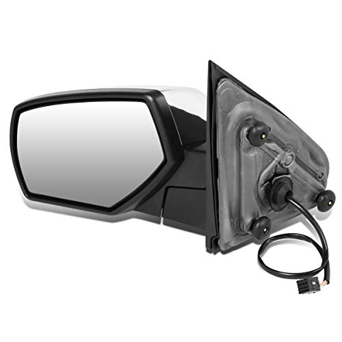 DNA Motoring TWM-050-T111-CH-L Left Side Chrome Cover Powered+Heated Rear View Towing Mirror