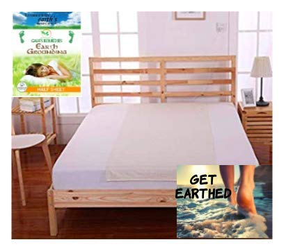 Gaia's Remedies Earthing Grounding Half Sheet with Outlet TESTER - Organic Cotton -Silver Antimicrobial Fiber for Better Sleep, Reduce Pain and Inflammation, Reconnect to the Earth EMF Recovery