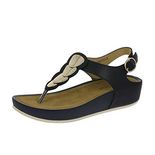 Heavenly Feet Marina de Guerra de Sandalias Mellow Marina De Guerra