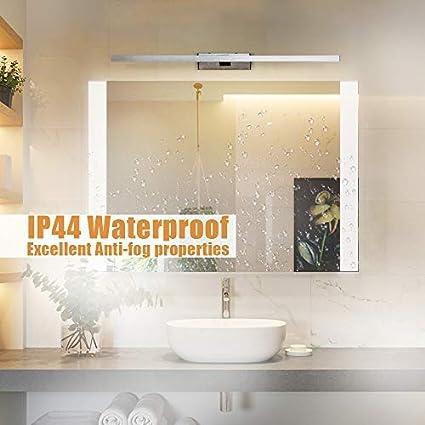 L/ámpara de Espejo Ba/ño LED,Impermeable IP44 12W,Luz de Espejo de Ba/ño,/Ángulo y longitud ajustable