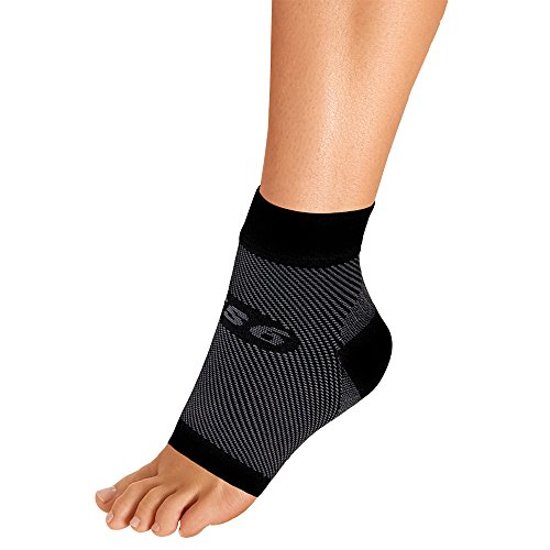 (OrthoSleeve FS6 Compression Foot Sleeve (Single Sleeve) for Plantar Fasciitis, Heel Pain, Achilles Tendonitis and Swelling)
