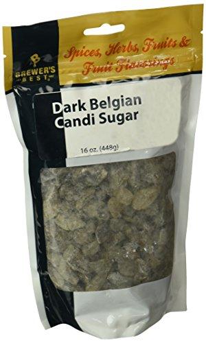 Natural Rock Cane Sugar - Dark Candi Sugar (16 oz.)
