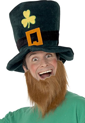 Leprechaun Hat with Beard (Weird Halloween Costumes Uk)
