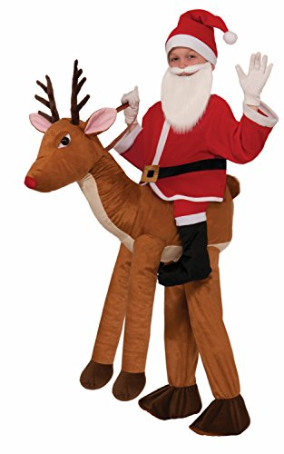 Forum Novelties Santa-Ride-A-Reindeer Child Costume (Funny Santa Costumes)