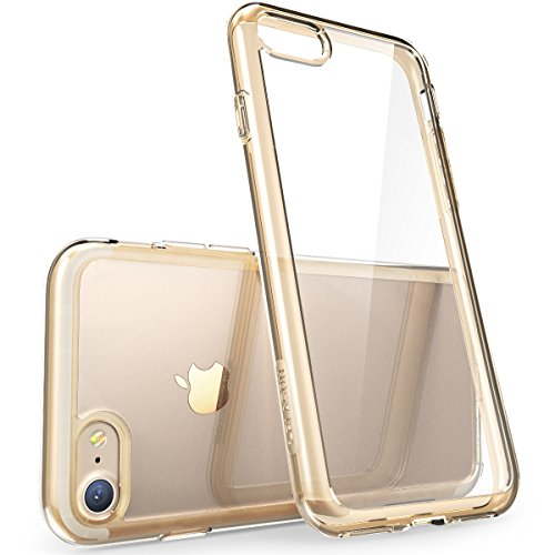 - iPhone 7 Case, iPhone 8 Case [Scratch Resistant] i-Blason Clear [Halo Series] for Apple iPhone 7/Apple iPhone 7 Cover (Clear/Gold)