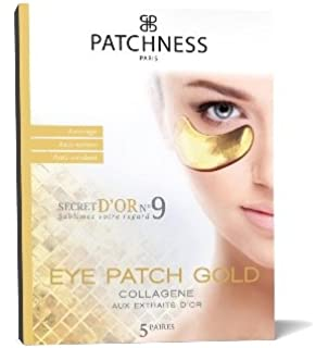 lifting anti-age collagen face patch with bio-gold and hyaluronic acid, 5 patches Secura Moisturizing Cleanser [59430900] 8 oz (Pack of 4)