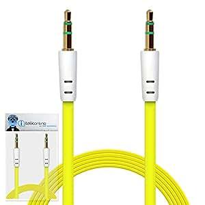 iTALKonline Oppo U705T ULike 2plana 3,5mm dorados Jack a jack macho AUX auxiliar Jack estéreo Conector Cable de conexión de alambre