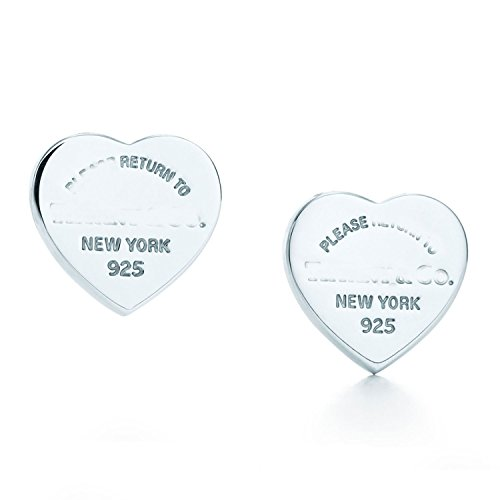 Return to Mini Heart Stud Earrings in Sterling - Tiffany Returns