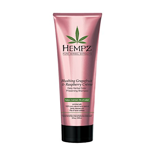 Hempz Hempz blushing grapefruit & raspberry creme color preserving herbal shampoo, 9.0 ounce, 9 Ounce