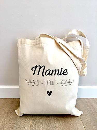 Idée De Cadeau Pour Grand MèRe Tote bag Mamie Chérie   idée cadeau grand mère: Amazon.fr: Handmade