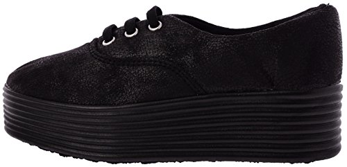 567 Leather 3 Holes Synthetic Leather 567 Black Platform Fashion Sneakers B01ICLQMGY Shoes 0d4498