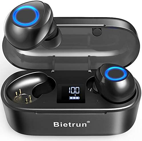 Wireless Earbuds – Qualcomm 5.0 Auto Pairing,True Wireless Earbuds with 30H Playtime, No Delay Stereo Sound,IPX7 Waterproof and Built-in Mic,CVC 8.0 Acoustic Noise Reduction.