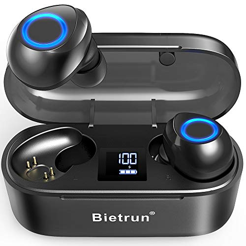 Wireless Earbuds - Qualcomm 5.0 Auto Pairing,True Wireless Earbuds with 30H Playtime, No Delay Stereo Sound,IPX7 Waterproof and Built-in Mic,CVC 8.0 Acoustic Noise Reduction.