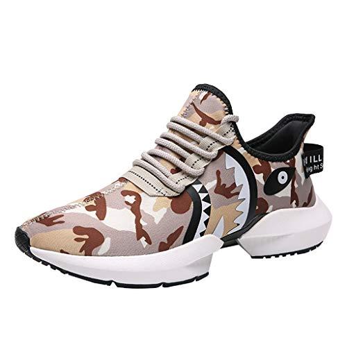 JJLIKER Men's Fashion Camouflage Sneakers Animal Pattern Ultra Lightweight Comfort Shoes Walking Breathable Slip on Shoe