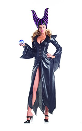 Adult Women's 2 Piece Sexy Maleficent Halloween Party Costume (Sexy Disney Villains)