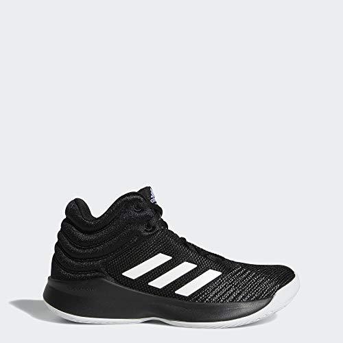 adidas Unisex Pro Spark 2018 Basketball Shoe, Black/White/Grey, 6 M US Big Kid